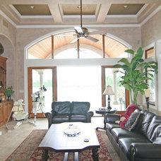 Mediterranean Family Room by HAJEK & Associates, Inc.
