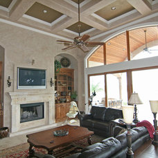Mediterranean Family Room by HAJEK & Associates, Inc.