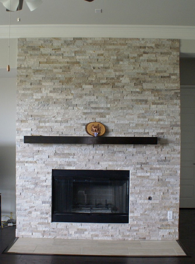 05-11-16 Glass tile, Engineered wood and stacked stone