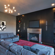 Contemporary Family Room by Scott Lewis Homes