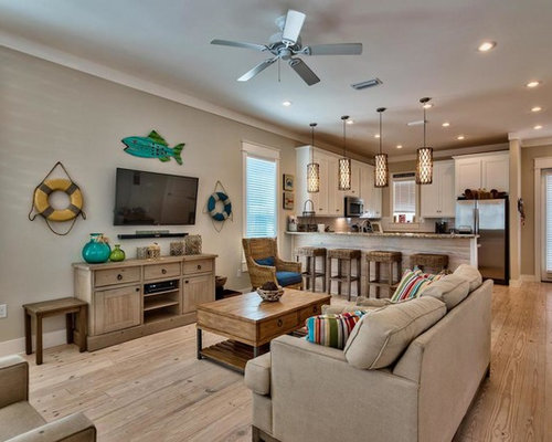 Beach style living room design ideas remodels photos houzz - Beach inspired living room decorating ideas and designs ...