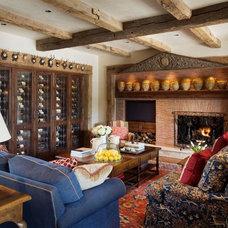 Mediterranean Family Room by Tiffany Farha Design