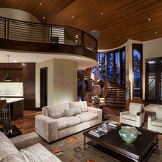 Contemporary Family Room by Magleby Construction