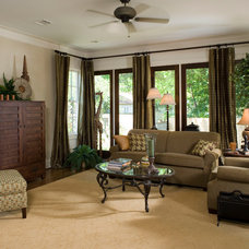 Traditional Family Room by Creole Design