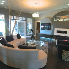 Contemporary Family Room by Jeff Click Homes