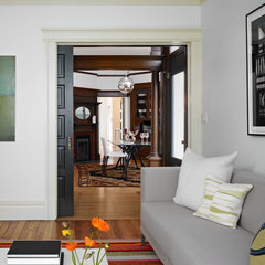 traditional family room by Chr DAUER Architects