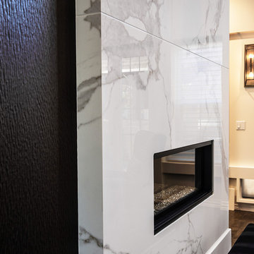2-story Floor to Ceiling wall Fireplace Surround.