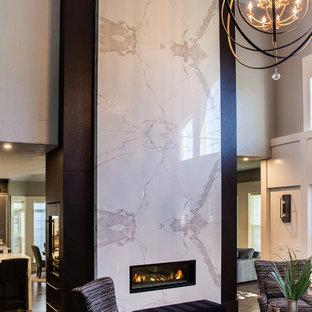 2 Story Fireplace Contemporary Houzz