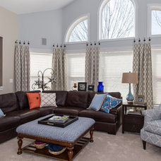 Transitional Family Room by Karen Spiritoso Home Designs By Karen