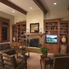 Traditional Family Room by DTF Design, Inc.