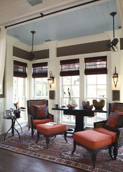 American Traditional Family Room by Max Crosby Construction