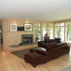 Contemporary Family Room by Architectural Homes by Anders Inc