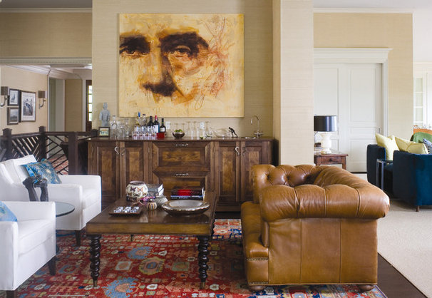 Traditional Family Room by Andrea Schumacher Interiors