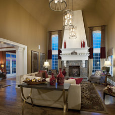 Eclectic Family Room by Diane Bishop Interiors