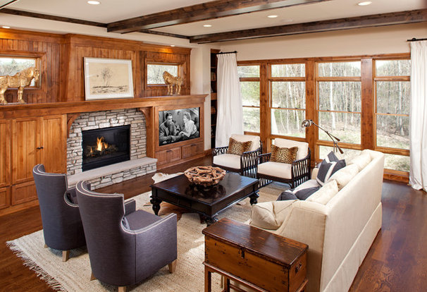 Traditional Family Room by BohLand Homes
