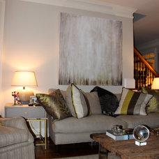 Contemporary Family Room by Meg Adams Interior Design