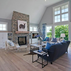 Transitional Family Room by Carl M. Hansen Companies
