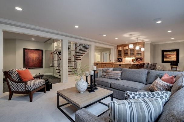 Traditional Family Room by TC Homebuilders Inc
