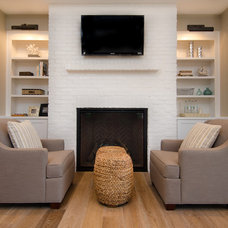 Transitional Family Room by Brown Bros. Masonry