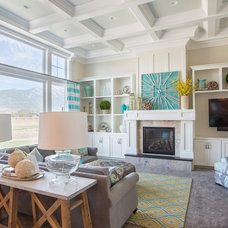 Transitional Family Room by Joe Carrick Design - Custom Home Design