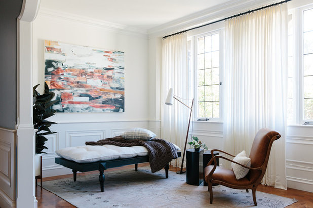 Transitional Family Room by ABD Studio
