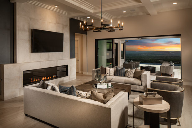 Contemporary Family Room by Five Star Interiors