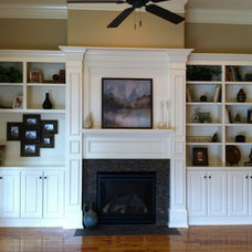 Traditional Family Room by Kim Johnson Interiors