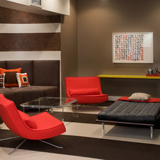 Contemporary Family Room by Morgan Howarth Photography
