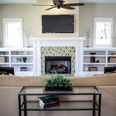 Craftsman Family Room by First In Development Group, LLC