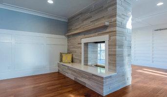 3D Limestone Fireplace