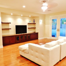 Modern Family Room by Trade Winds Construction