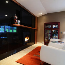 Contemporary Family Room by Bryce and Doyle Craftsmanship