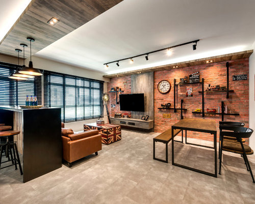 Houzz | Industrial Living Room Design Ideas & Remodel Pictures