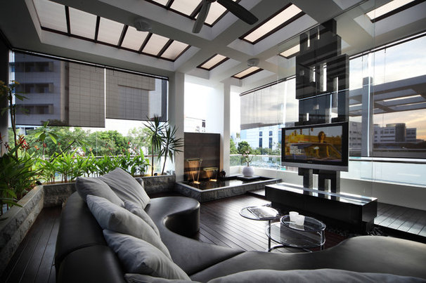 Contemporary Family Room by The Interior Place (S) Pte Ltd