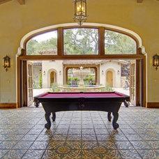 Mediterranean Family Room by Malibu Ceramic Works