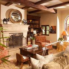 Mediterranean Family Room 6281 Camino de la Costa - ceiling