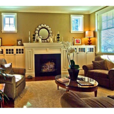 Traditional Family Room by b3 Construction Services LLC