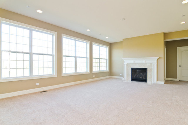 Traditional Family Room by SKYCREST HOMES LLC