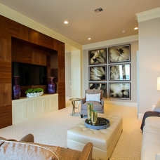 Mediterranean Family Room by Claremont Companies