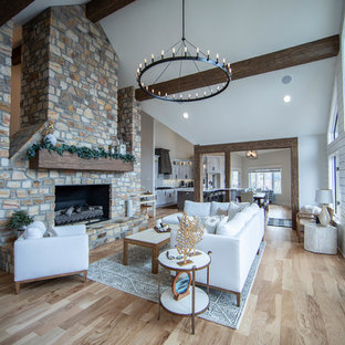 75 Beautiful Family Room with a Standard Fireplace Pictures ...
