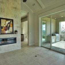 Contemporary Family Room by Burdick Custom Homes