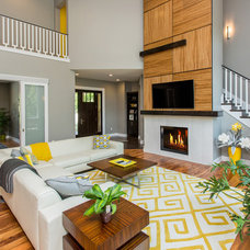 Contemporary Family Room by Homes by DePhillips