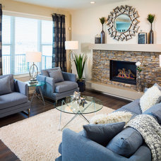 Contemporary Family Room by Cedarglen Homes