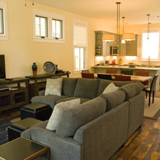 Eclectic Family Room by Reclaimed Lumber Products