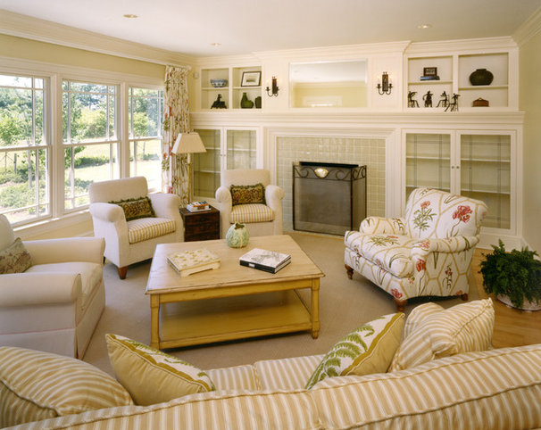Traditional Family Room by Andreozzi Architects