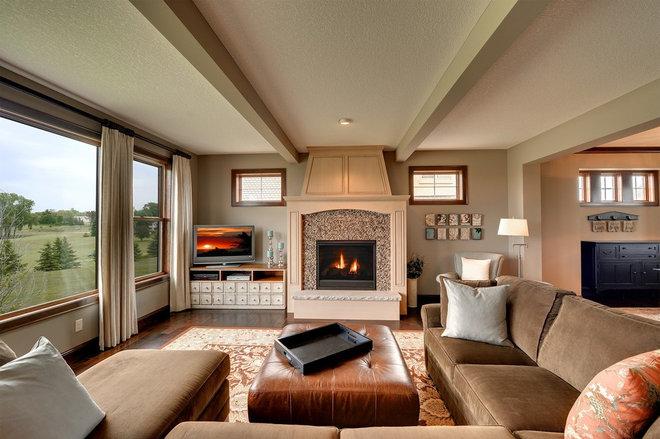 Traditional Family Room by The Barkleys Edina Realty