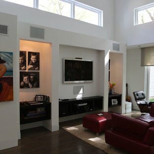 Inspiration for a modern family room remodel in Chicago