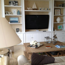 Beach Style Family Room by Jennifer Mirch Designs