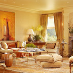 French Provincial Renovation Traditional Family Room