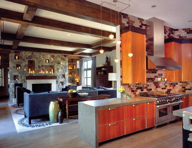 Contemporary Family Room by Anderson Design Studio